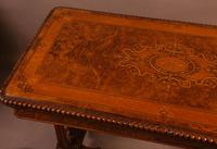 Super Quality Victorian Burr Walnut & Marquetry Card Table (3 of 12)