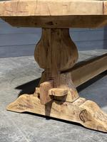 Large Rustic French Bleached Oak Farmhouse Dining Table (13 of 40)
