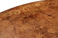 Victorian Burr Walnut Marquetry Oval Loo Breakfast Table Tilt Top (5 of 11)