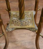 Antique Gilt French Floor Lamp Table (12 of 12)