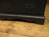 Small Antique Painted Black Writing Bureau desk with fall front, Gothic (6 of 14)