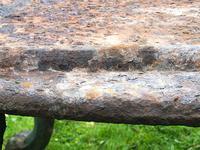 French 18th Century Georgian Grand Tour Garden Cast Iron Plinth Table Claw Feet (8 of 33)