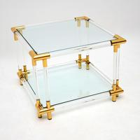 1970's Pair of Vintage Acrylic & Glass Side Tables (7 of 11)