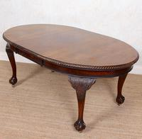 Oak Dining Table & 6 Chairs Telescopic 19th Century (16 of 19)