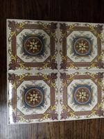 H & R Johnson Autumn Leaves Fireplace Tiles Set of 4