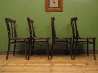 Four Antique Polish Thonet Style Bentwood Bistro Chairs with Pressed Seats (22 of 22)