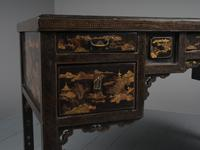 Chinese Gilded & Black Lacquered Desk (11 of 20)