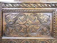 Antique 17th Century Carved Oak Coffer (7 of 10)