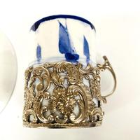 Royal Crown Derby Coffee Cup & Saucer in Silver Holder (7 of 8)