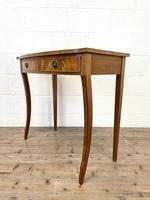 Reproduction Mahogany Bow Front Side Table (4 of 9)