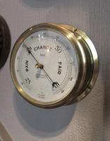 Antique Southampton Bulkhead Marine Barometer