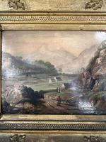 Antique Victorian Landscape Oil Painting in Ornate Gesso Frame (5 of 10)