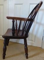 Victorian Ash & Elm Wood Childs Windsor Chair c.1840 (6 of 14)