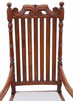 Oak Armchair Elbow Desk Chair C1915 Charles II Style (6 of 8)