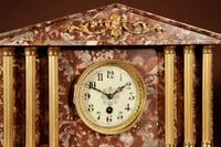 Grand Tour Style Very Decorative French Gilded Brass & Marble Clock Garniture (3 of 14)