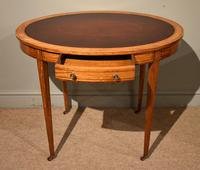 19th Century Oval Satinwood Writing Table (7 of 7)