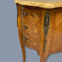 Pair of Marquetry & Marble Top Side Tables (2 of 8)