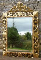 Large Antique Florentine Mirror with Crest