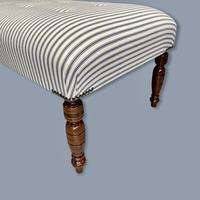 Buttoned Ticking Low Footstool (3 of 8)