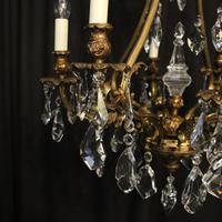 Italian Gilded Bronze & Crystal 8 Light Chandelier (3 of 10)