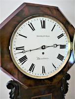 Exceptionally Fine 1845 English Drop Dial Fusee Wall Timepiece by Francis Scholefield (4 of 11)