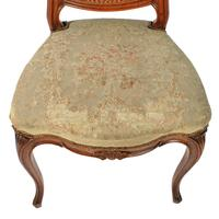 Two Walnut Bergére Salon Chairs (6 of 8)