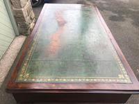 Antique Mahogany Pedestal Writing Desk (3 of 11)