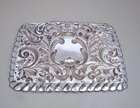 Edwardian Silver Dressing Table Tray by W. J. MYATT & CO, Chester 1905 (4 of 4)