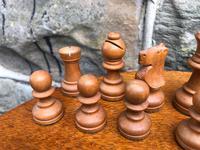 Antique Boxwood & Mahogany Chess Set (4 of 6)