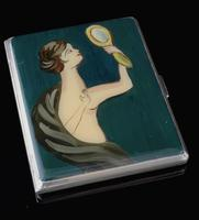 Vintage Art Deco Silver and enamel cigarette case (2 of 13)