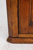 Small Georgian Oak Hanging Corner Cupboard (9 of 13)