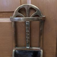 Brass Door Porter - Door Stop - In Shape of a Stick Stand (5 of 8)