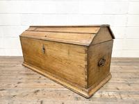19th Century Antique Oak Dome Top Trunk (2 of 13)