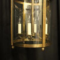 French Pair of Bronze Antique Hall Lanterns (8 of 10)