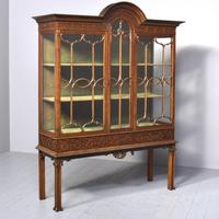 Antique Chinese Chippendale Mahogany Display Cabinet (12 of 13)