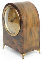 Antique Shell Mantel Clock Fine Arched Top Clock with Brass Dial 8-Day Timepiece Mantle Clock (8 of 9)