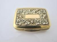 Wonderful cast silver-gilt vinaigrette Samuel Pemberton Birmingham 1816 (11 of 11)