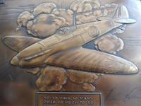 Bronzed Metal Calendar Signed Alex Henshaw MBE 1941 (2 of 13)