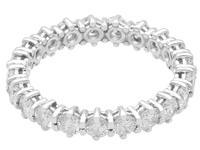 1ct Diamond & 14ct White Gold Full Eternity Ring - Vintage c.1970 (4 of 9)