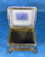 Arts & Crafts Glass and Brass Single Tea Caddy. (5 of 18)