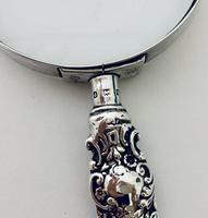 Victorian Sterling Silver Magnifying Glass Levi & Salaman 1901 (9 of 12)