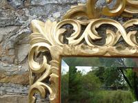 Large Antique Florentine Mirror with Crest (7 of 10)