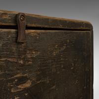 Antique Cobbler's Chest, Pine, Tool Trunk, Coffee Table, Victorian c 1900 (10 of 12)