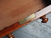 Victorian Birds Eye Maple Kneehole Pedestal Desk (12 of 17)