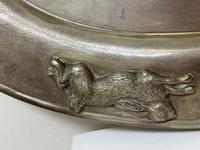 Large Danish Sporting Victorian 19th Century Danish Silver Plate Salver (17 of 31)