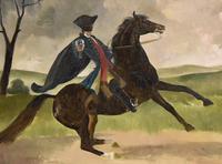 "Oil Painting Doris Zinkeisen ""Dick Turpin"" (5 of 5)"