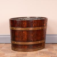 Pair Of Large Oval Oak Brass Bound Log Buckets (16 of 21)
