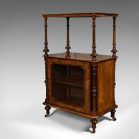 Antique Music Cabinet, English, Walnut, Display Cupboard, Whatnot, Victorian (4 of 10)