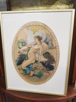Exclusive Russian Symbolism Painting from Private Collection. #2 Leda with a Swan (2 of 6)