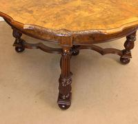 Antique Burr Walnut Extending Dining Table Eight Seater (13 of 14)